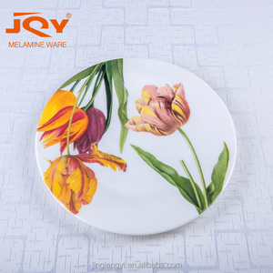 "wholesale 100% melamine 10"" custom print melamine dinner plates"