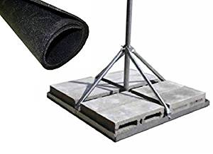 "ROHN FRM238SP5 Non-Penetrating Roof Mount Bundle - 2.38"" x 0.154"" Wall x 60"" Galvanized Mast + Rohn FRMMAT Roof Mat"