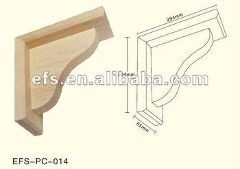 Simple Unfinished Decorative Wood Shelf Brackets Efs Pc 104