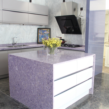 Pre Cut Purple Best Quality Fake Quartz Countertop