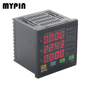 2015 newest three phase four lines led multifunction power meter Progarammable