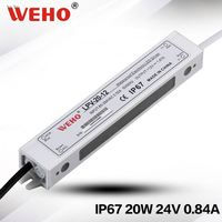 20w 0.83a power supply ac 220v to dc 24v waterproof led power supply