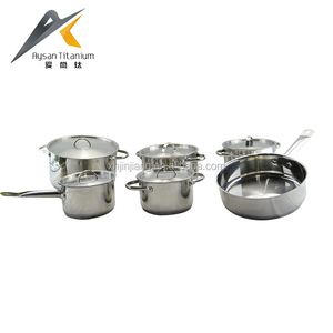Factory wholesale 0.6mm body thickness kitchen accessories cooking pot set stainless steel camping cook set