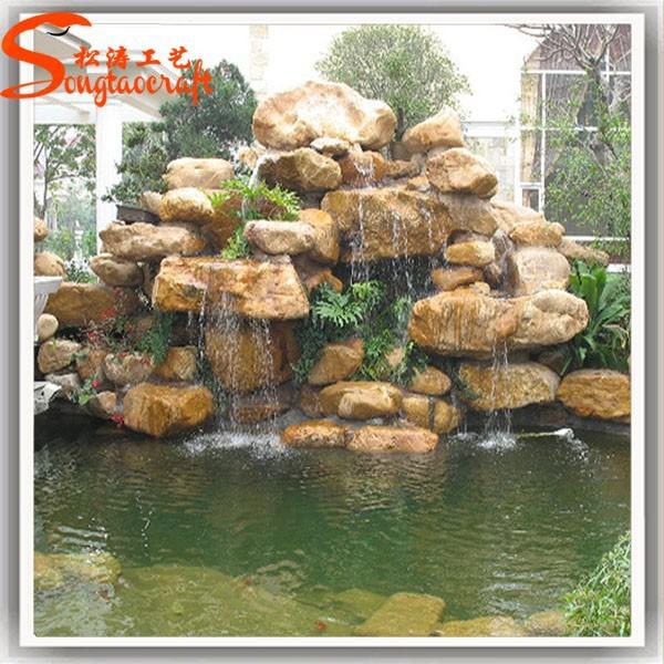 Made in china barata de vidrio m rmol piedra roca fuentes for Fontana artificiale