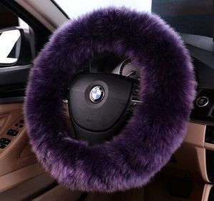Universal Plush Wool Soft Steering Wheel Cover Guard Truck Car Accessory