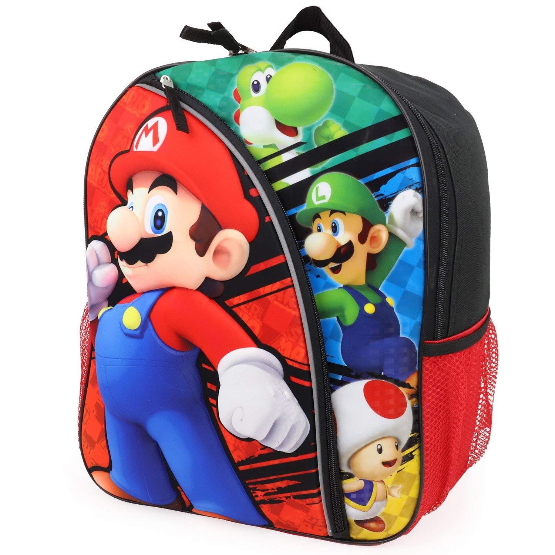 5e782cab42 Get Quotations · Trendy Apparel Shop Super Mario Bros 16   Molded Backpack  Reflective Stripes