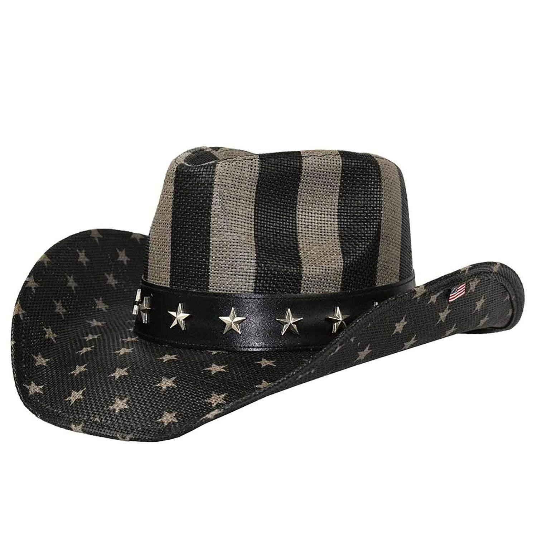 5f7b21bacde Get Quotations · California Hat American Flag Toyo Cowboy Hat