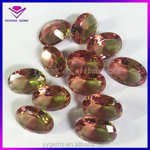 factory direct outlets excellent cutting color changed crystals glass oval and hexagon beads gems stone jaipur