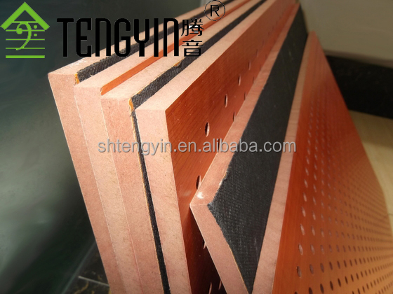 North America market factory production ISO certificate Tengyin grooved timber acoustic insulation panel