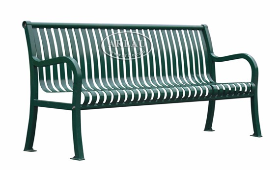 Modern Wood And Metal Bench Outdoor Park Bench Patio Chairs Wooden