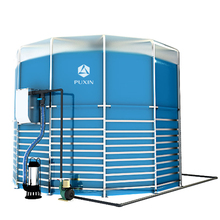 assembled PUXIN medium size biogas reactor for electricity