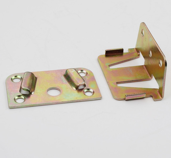 Metal Bed Frame Parts Bed Hook Plate Bracket Fittings Bed Rail Brackets