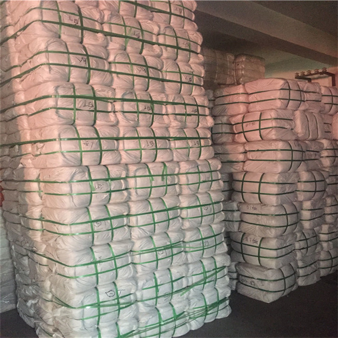 white cotton wiping rags for oil absorb cloth textile waste