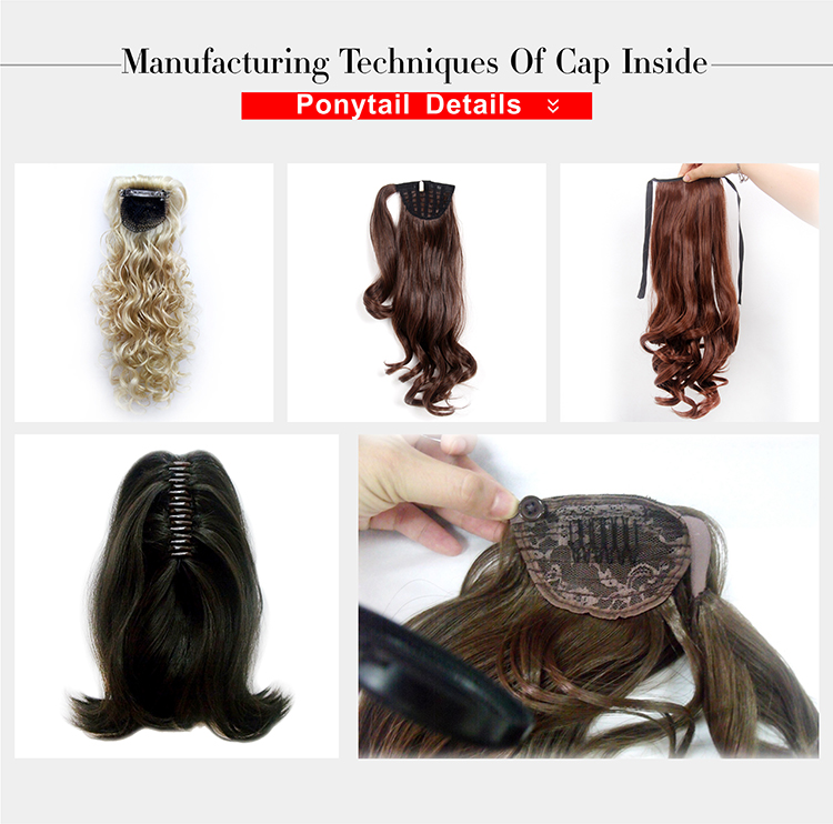 Claw Clip 18Inch Woman Synthetic Hair Ponytail Long Black Thick Braided Hair Extension
