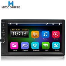 Universal Vehicle 7inch double din Car stereo with bluetooth/USB/TF /Video Output