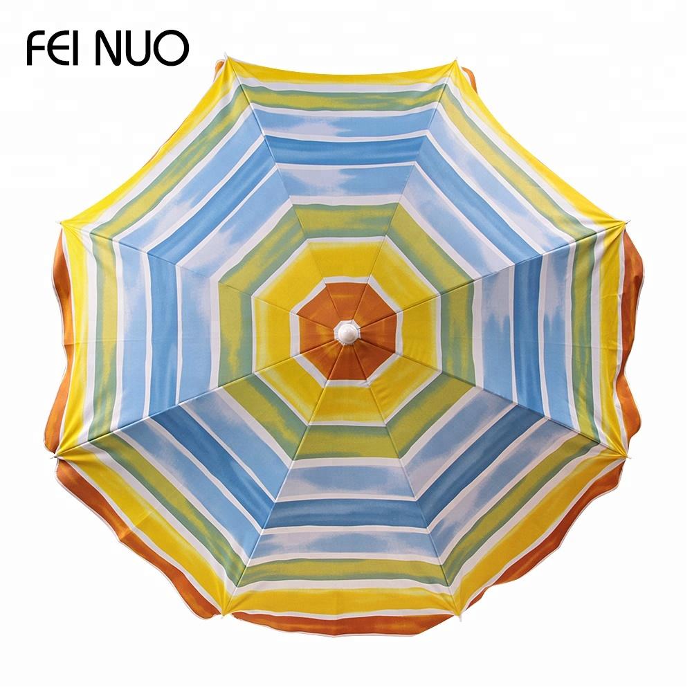 Rainbow Colored Wind Resist Sun Anti Uv Protection Beach Umbrella Parasol Wholesale Buy Sun Umbrella Beachwind Resist Beach Umbrellarainbow