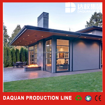 low cost modern design cement sandwich panel insulated prefab house villa  manufacturer by Wuhan Daquan, View insulated prefab house villa, DAQUAN ...