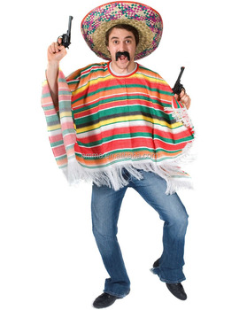 Cool Mexico Poncho Costumes Man Bulk Bmg17032