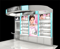 Modern Nail Salon Furniture Big Wall Unit Lighting Floor Standing Cosmetics Nail Bar Kiosk For Manicure