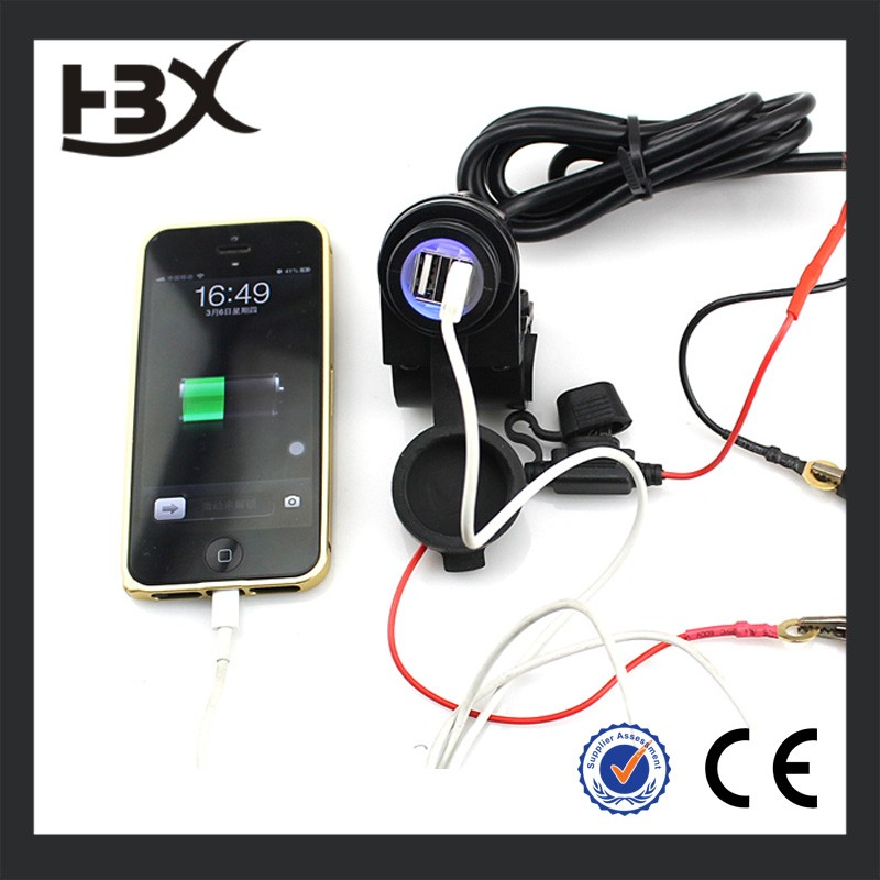 Hot USB 12V to 5V USB Phone Waterproof Car USB Charger motorbike GPS Mobile Phone MP3 Power Supply Port Socket Charger Outlet