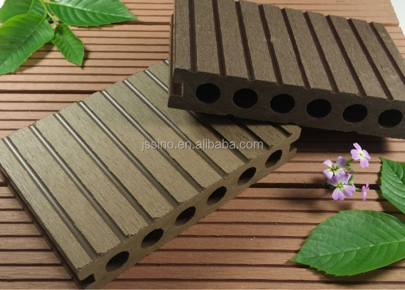 140 25mm Wpc Exterior Wood Plastic Composite Decking