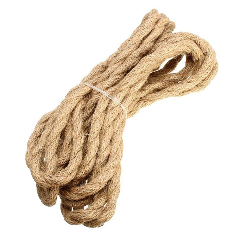 2/3 Cores 5M Vintage Rope Wire Twisted Cable Retro Braided Hemp Cord Electrical Line String for DIY Pendant Lamp Wall Light(2 cores)