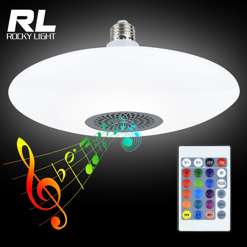 RGB remote controlled bluetooth music bulb light 25+5w smart lighting bulb lamp <strong>E27</strong>