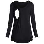 Newest style maternity clothing pregnant women breastfeeding blouse nursing top nurse clothes