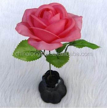 Artificial Single Pink Rose Flower On Table For Decoration Buy