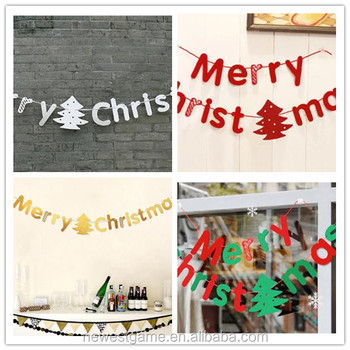 word christmas letters banner hanging decorations hotels shopping malls kindergartens festive scene costumes christmas bnanner - Christmas Letter Decorations