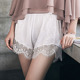 Ladies Satin Frill Short Women Femme Shorts Lace