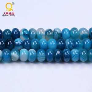 High quality faceted black flat round agate beads strings