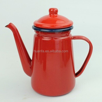 Accept Small Order High Quality Outdoor Enamel Camping Coffee Pot