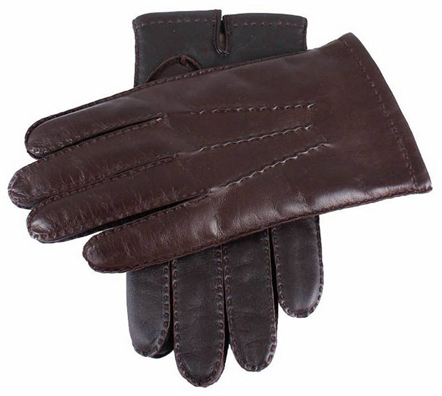 1f9ffca99561c Get Quotations · Dents Mens Cashmere Lined Touchscreen Leather Gloves -  Brown
