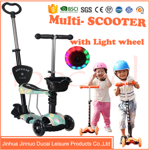 TK05 PU wheels kids kick scooter balance scooter with seat