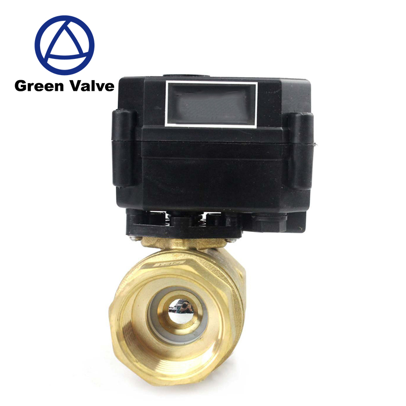 Gutentop 1 inch 5V/12v/24V Electric Brass Motorized Ball <strong>Valve</strong> with manual operation