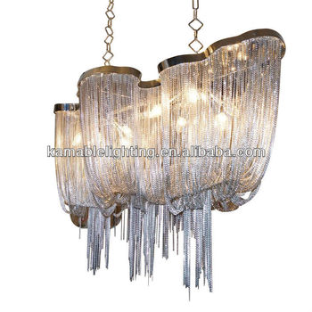 Modern Silver Hotel Chain Lighting Chandeliers Ka1072 Project Style Chandelier Pendant Lights