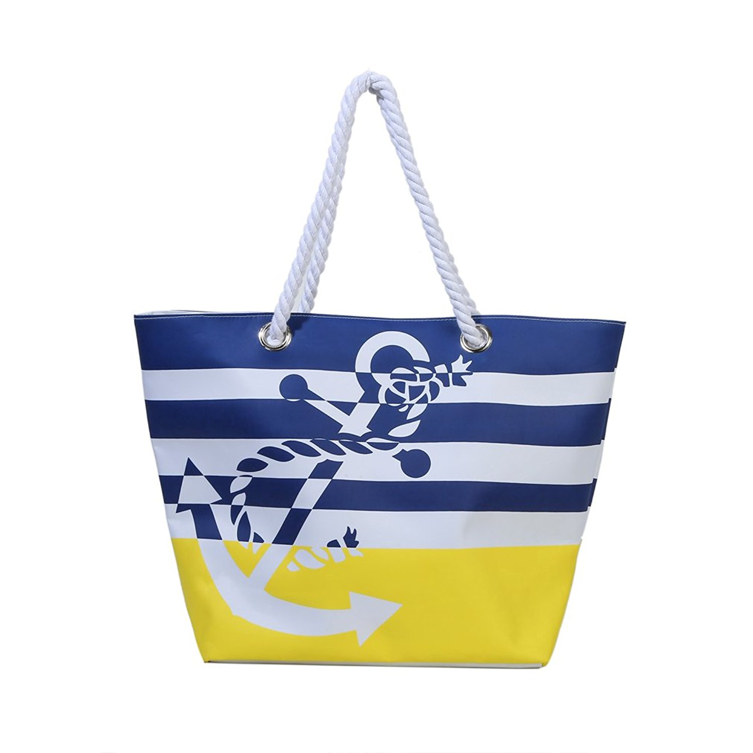 d25b0de8d063 Get Quotations · Waterproof Beach Bag Extra Large Summer Tote Bag With  Cotton Rope Handles for Sands Swimming Pools