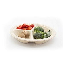 Eco Disposable Divided Plates Bamboo Serving Tray