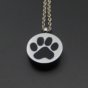 300 Styles roundness Dog Pet Paw Print Pendant Cremation Urn Jewelry P117
