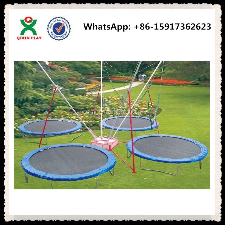 High Evaluation large 4 in 1 bungee trampoline/bungee trampoline price/bungee jumping trampoline QX-120A