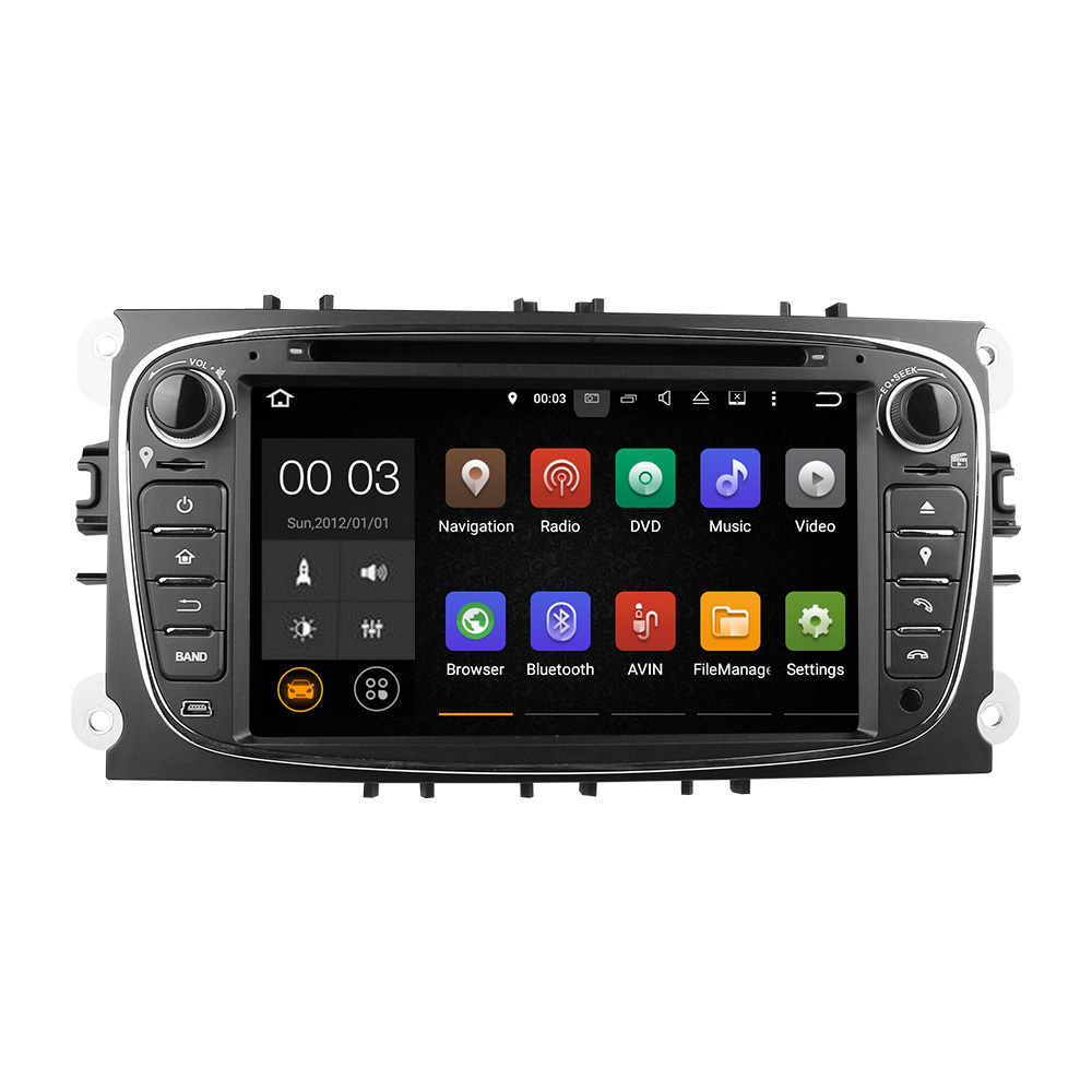 Winmark <strong>Android</strong> 5.1 Car Audio DVD GPS Player Stereo Sat Navi Quad Cord 7 Inch 2 Din For FORD Galaxy 2010-2011 DU7009