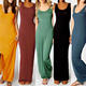 Wholesale women clothing 2016 ropa mujer New European and American Style Retro Casual Ankle Long Vest Tank long maxi Dress
