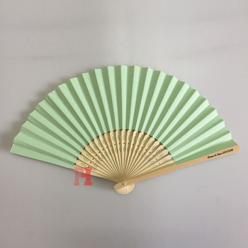 Customized Design Personalised Paper Hand Fan For Wedding