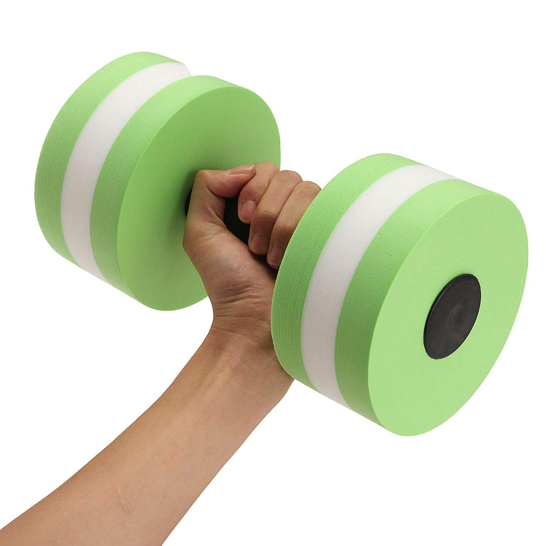 niceeshop TM Foam Dumbbells Water Aerobic Exercise Hand Bars Pool Resistance Exercises Equipment,Set of 2