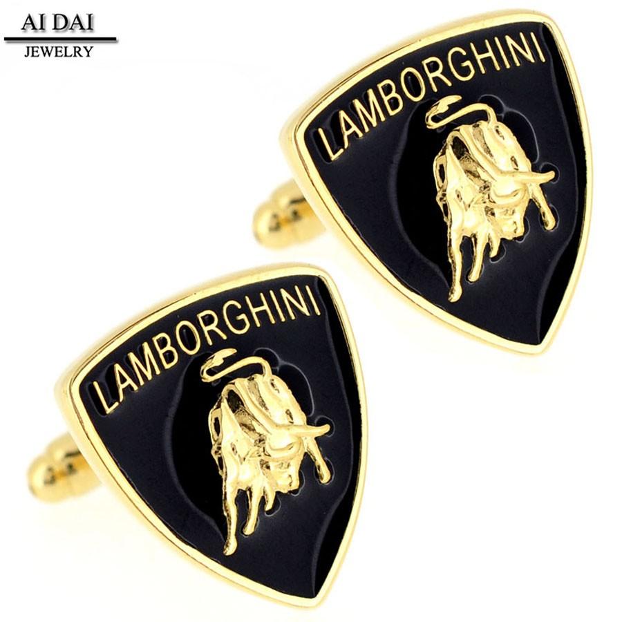 Hot Style Luxury Lamborghini Car Logo Mens Stainless Steel