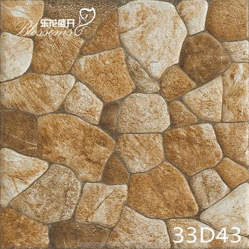 Non Slip River Stone Rustic Flooring Tile For Exterior Floor