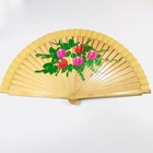 Fan Sandalwood Fan Novelty Hand Fan Wood Sublimation Sandalwood Fan
