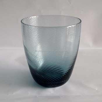Anchor Hocking Navy Bluepurple Optic Swirl Glass Tumbler Buy
