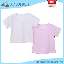 BX-TN-040 cute cheap plain white fitted baby T-shirt